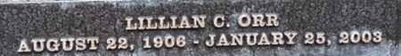ORR, LILLIAN C. - Los Angeles County, California   LILLIAN C. ORR - California Gravestone Photos