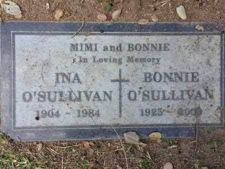 O'SULLIVAN, INA - Los Angeles County, California   INA O'SULLIVAN - California Gravestone Photos