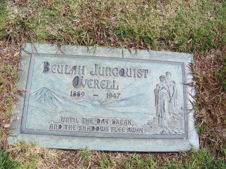 JUNGQUIST OVERELL, BEULAH - Los Angeles County, California | BEULAH JUNGQUIST OVERELL - California Gravestone Photos