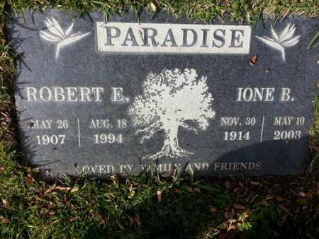 PARADISE, ROBERT E. - Los Angeles County, California | ROBERT E. PARADISE - California Gravestone Photos