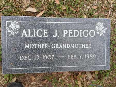 PEDIGO, ALICE J. - Los Angeles County, California | ALICE J. PEDIGO - California Gravestone Photos