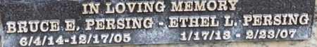 PERSING, ETHEL L. - Los Angeles County, California   ETHEL L. PERSING - California Gravestone Photos
