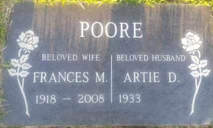 POORE, ARTIE - Los Angeles County, California | ARTIE POORE - California Gravestone Photos