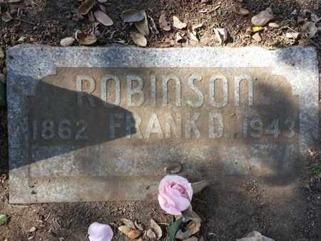 ROBINSON, FRANK D. - Los Angeles County, California   FRANK D. ROBINSON - California Gravestone Photos