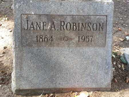 ROBINSON, JANE A. - Los Angeles County, California | JANE A. ROBINSON - California Gravestone Photos