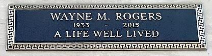 ROGERS, WAYNE  (ACTOR) - Los Angeles County, California | WAYNE  (ACTOR) ROGERS - California Gravestone Photos