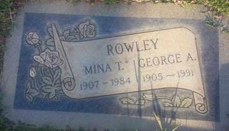 ROWLEY, MINA - Los Angeles County, California | MINA ROWLEY - California Gravestone Photos
