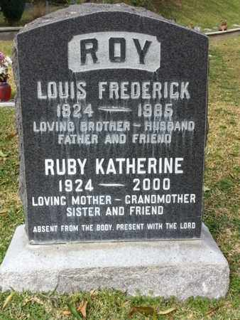 ROY, LOUIS FREDERICK - Los Angeles County, California   LOUIS FREDERICK ROY - California Gravestone Photos
