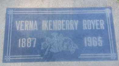 IKENBERRY ROYER, VERNA - Los Angeles County, California | VERNA IKENBERRY ROYER - California Gravestone Photos