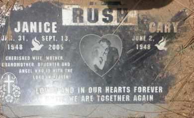 RUSH, JANICE - Los Angeles County, California | JANICE RUSH - California Gravestone Photos
