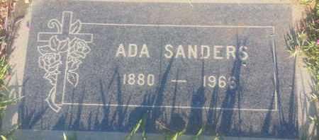 SANDERS, ADA - Los Angeles County, California   ADA SANDERS - California Gravestone Photos