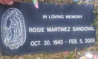SANDOVAL, ROSIE - Los Angeles County, California | ROSIE SANDOVAL - California Gravestone Photos