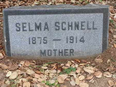 SCHNELL, SELMA - Los Angeles County, California | SELMA SCHNELL - California Gravestone Photos
