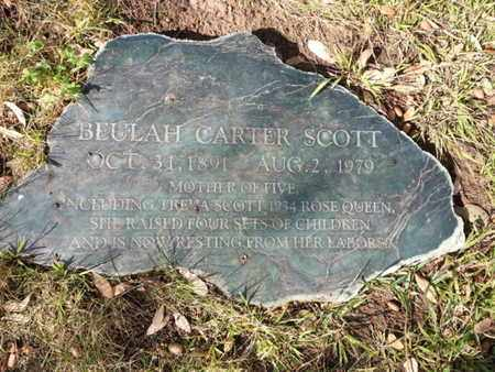 CARTER SCOTT, BEULAH - Los Angeles County, California | BEULAH CARTER SCOTT - California Gravestone Photos