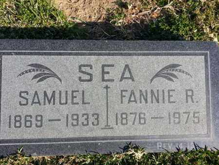 SEA, FANNIE R. - Los Angeles County, California | FANNIE R. SEA - California Gravestone Photos