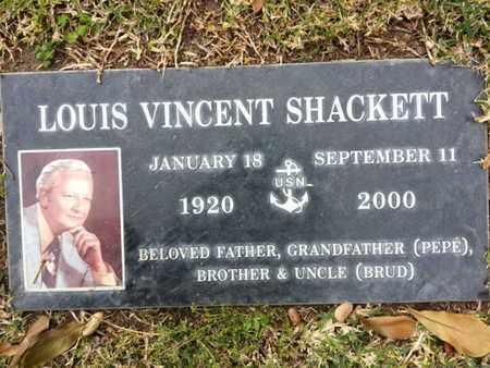 SHACKETT, LOUIS V. - Los Angeles County, California | LOUIS V. SHACKETT - California Gravestone Photos
