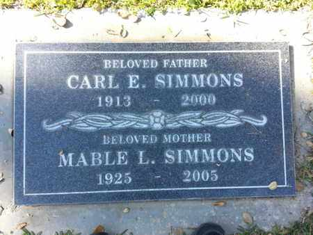 SIMMONS, MABLE L. - Los Angeles County, California | MABLE L. SIMMONS - California Gravestone Photos