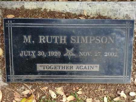 SIMPSON, M. R. - Los Angeles County, California   M. R. SIMPSON - California Gravestone Photos