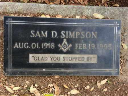 SIMPSON, SAM D. - Los Angeles County, California | SAM D. SIMPSON - California Gravestone Photos