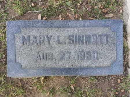 SINNOTT, MARY L. - Los Angeles County, California | MARY L. SINNOTT - California Gravestone Photos