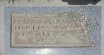 FLORES SORIANO, EMILIA - Los Angeles County, California | EMILIA FLORES SORIANO - California Gravestone Photos