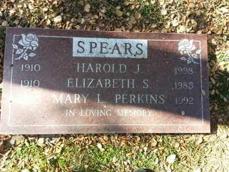 SPEARS, HAROLD J - Los Angeles County, California   HAROLD J SPEARS - California Gravestone Photos