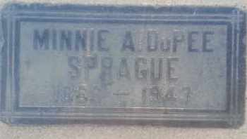 DUPEE SPRAGUE, MINNIE - Los Angeles County, California | MINNIE DUPEE SPRAGUE - California Gravestone Photos