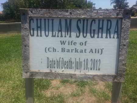 SUGHRA, GHULAM - Los Angeles County, California | GHULAM SUGHRA - California Gravestone Photos