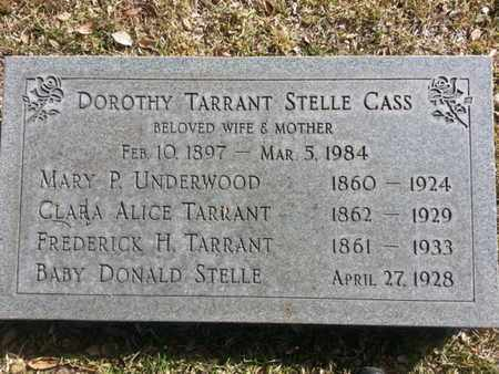 CASS-STEELE-TARRANT, DOROTHY - Los Angeles County, California   DOROTHY CASS-STEELE-TARRANT - California Gravestone Photos