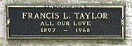 TAYLOR, FRANCIS LENN - Los Angeles County, California   FRANCIS LENN TAYLOR - California Gravestone Photos