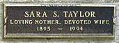 TAYLOR, SARA - Los Angeles County, California   SARA TAYLOR - California Gravestone Photos