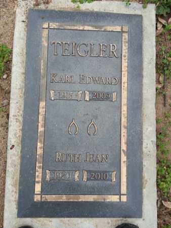 TEIGLER, KARL EDWARD - Los Angeles County, California | KARL EDWARD TEIGLER - California Gravestone Photos