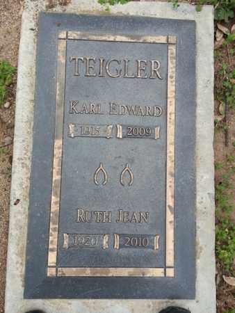 TEIGLER, RUTH JEAN - Los Angeles County, California   RUTH JEAN TEIGLER - California Gravestone Photos