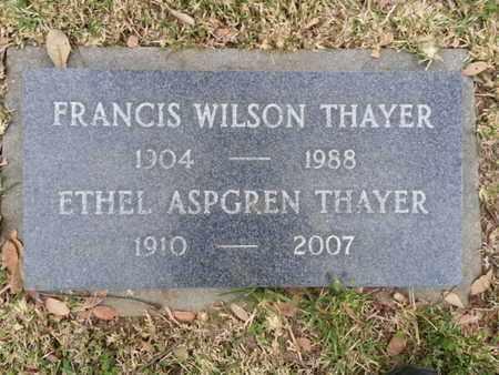 THAYER, FRANCIS WILSON - Los Angeles County, California | FRANCIS WILSON THAYER - California Gravestone Photos