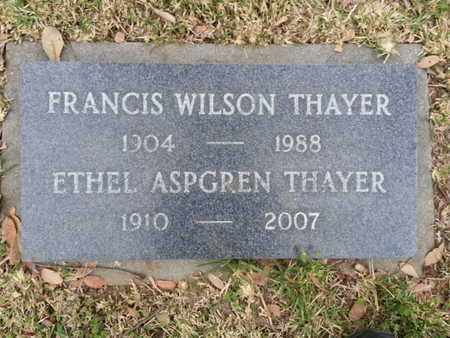 THAYER, FRANCIS WILSON - Los Angeles County, California | FRANCIS WILSON THAYER - California Gravestone Photos