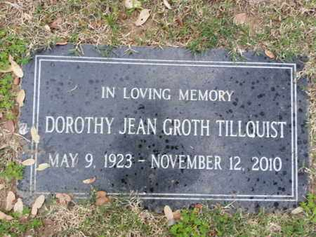 TILLQUIST, DOROTHY JEAN - Los Angeles County, California | DOROTHY JEAN TILLQUIST - California Gravestone Photos
