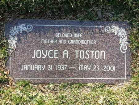 TOSTON, JOYCE A. - Los Angeles County, California | JOYCE A. TOSTON - California Gravestone Photos