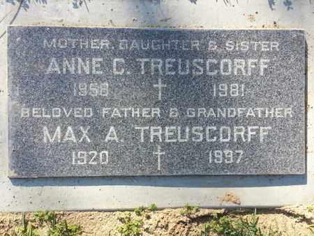 TREUSCORFF, MAX A. - Los Angeles County, California | MAX A. TREUSCORFF - California Gravestone Photos