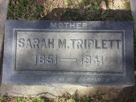 TRIPLETT, SARAH M. - Los Angeles County, California | SARAH M. TRIPLETT - California Gravestone Photos