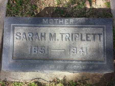 TRIPLETT, SARAH M. - Los Angeles County, California | SARAH M. TRIPLETT - California Gravestone Photos
