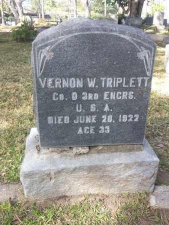TRIPLETT, VERNON W. - Los Angeles County, California   VERNON W. TRIPLETT - California Gravestone Photos