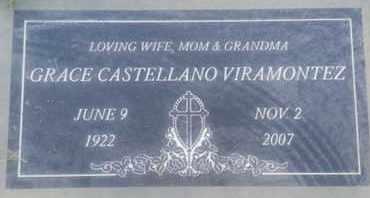 CASTELLANO VIRAMONTEZ, GRACE - Los Angeles County, California | GRACE CASTELLANO VIRAMONTEZ - California Gravestone Photos