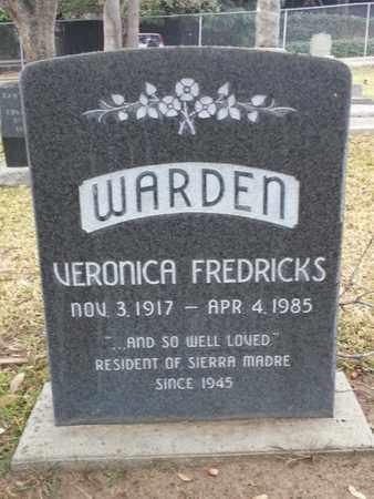 FREDERICKS WARDEN, VERONICA - Los Angeles County, California | VERONICA FREDERICKS WARDEN - California Gravestone Photos