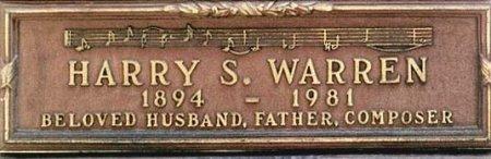 WARREN, HARRY S  [COMPOSER] - Los Angeles County, California   HARRY S  [COMPOSER] WARREN - California Gravestone Photos