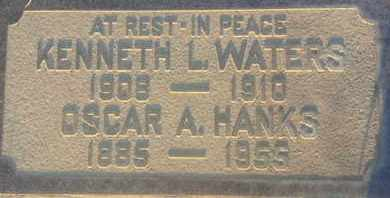 HANKS, OSCAR - Los Angeles County, California   OSCAR HANKS - California Gravestone Photos