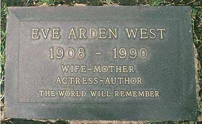 "BERGEN WEST, EUNICE M ""EVE"" - Los Angeles County, California | EUNICE M ""EVE"" BERGEN WEST - California Gravestone Photos"