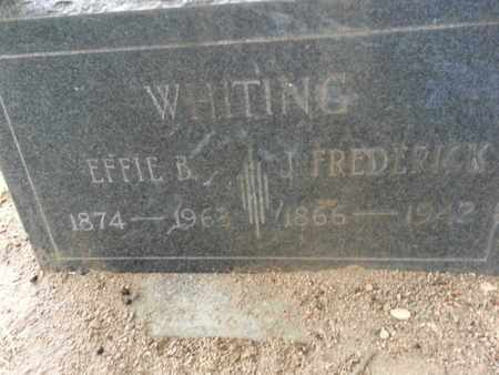 WHITING, EFFIE B. - Los Angeles County, California | EFFIE B. WHITING - California Gravestone Photos