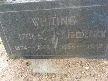 WHITING, J. F. - Los Angeles County, California | J. F. WHITING - California Gravestone Photos