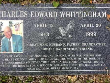 WHITTINGHAM, CHARLES E. - Los Angeles County, California | CHARLES E. WHITTINGHAM - California Gravestone Photos