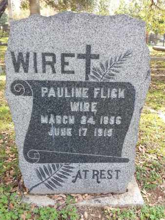 FLICK WIRE, PAULINE - Los Angeles County, California | PAULINE FLICK WIRE - California Gravestone Photos